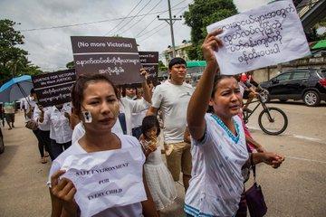 pgwałt na 3-latce w birmie wywołał protesty