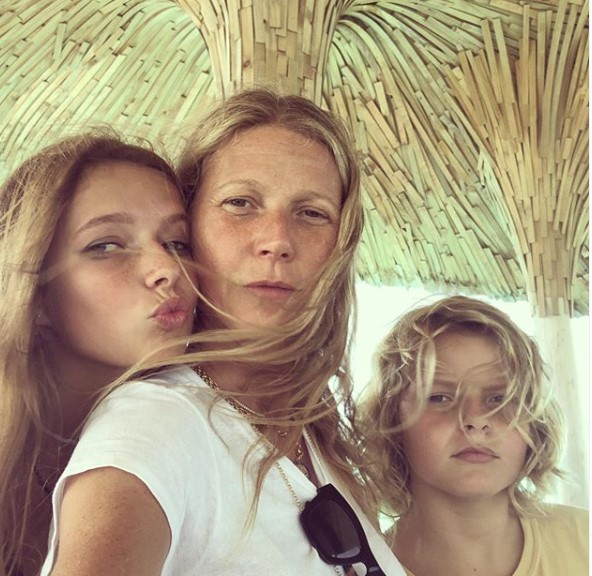 gwyneth z dziećmi