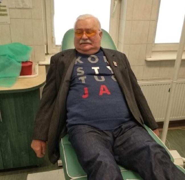 były prezydent w szpitalu