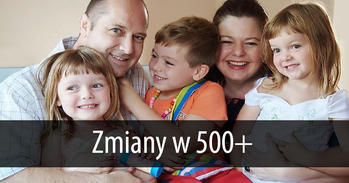 Zmiany w programie 500+. Jedni rodzice dostaną więcej pieniędzy a drudzy mniej