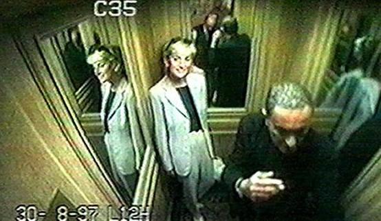 Zdjęcie w windzie z księżną Dianą