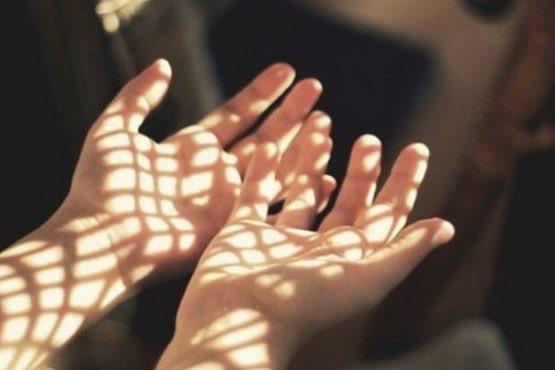 ręce za siatką