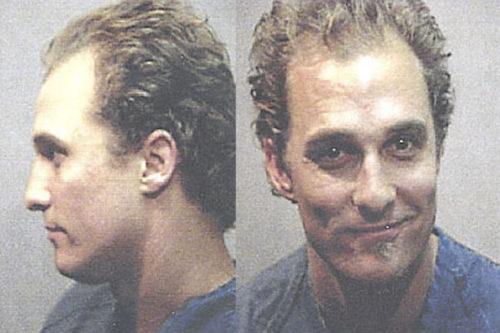 Matthew McConaughey zdjęcie z zatrzymania