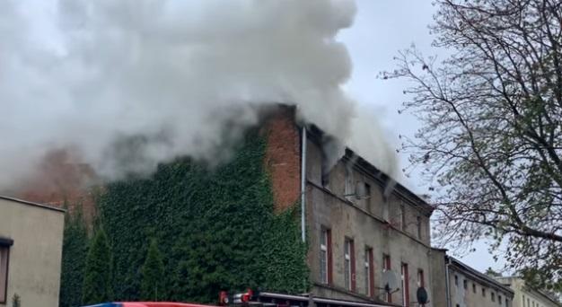 Pożar w Inowrocławiu zatrzymano mężczyznę
