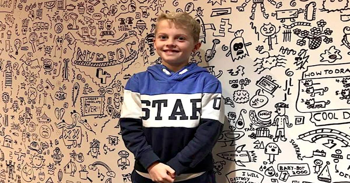 Młody artysta The Doodle Boy