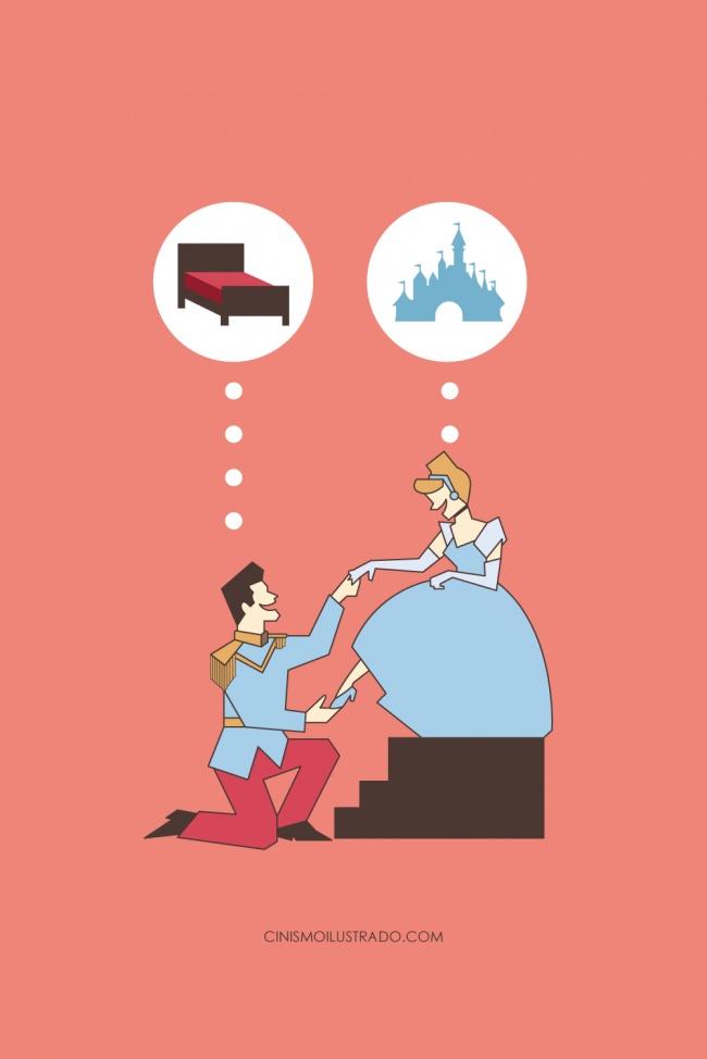 cyniczne ilustracje ukazujące świat