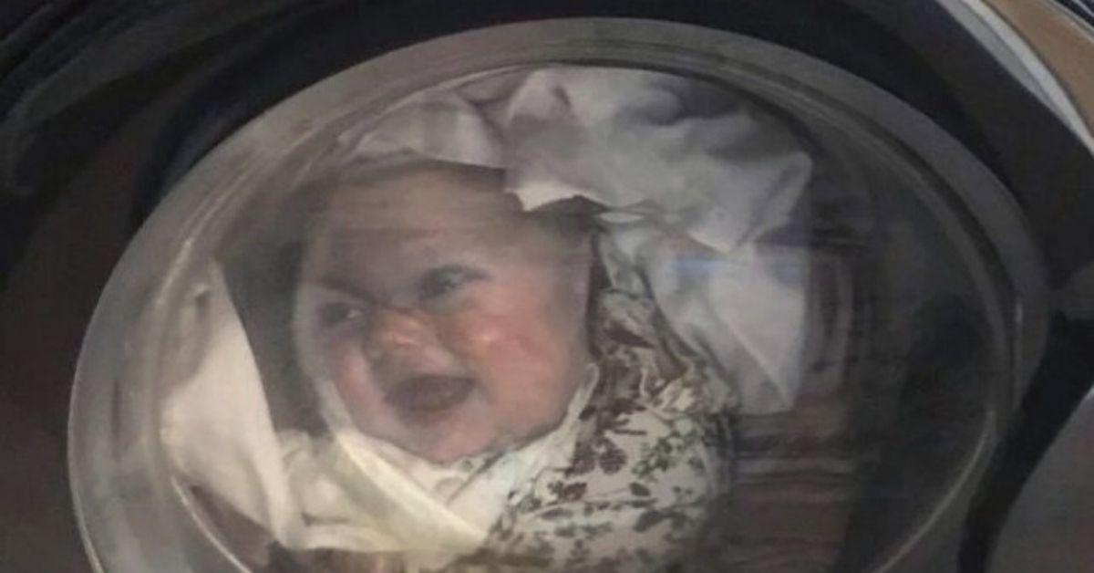 Dziecko znalazło się w pralce