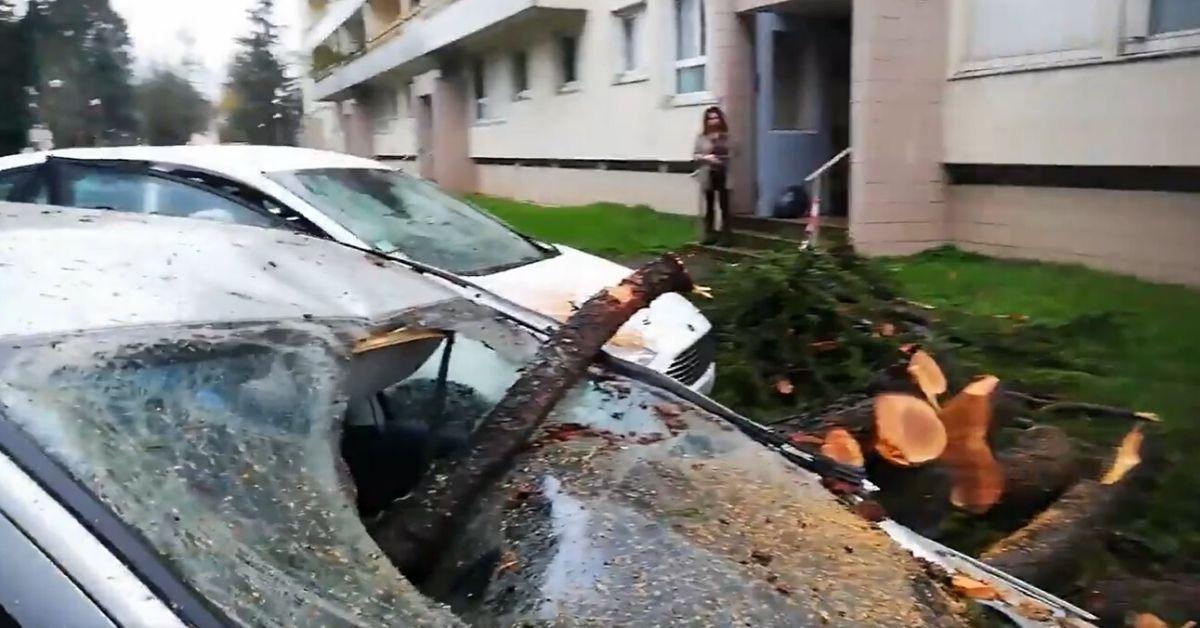 Francja powódź i wichura