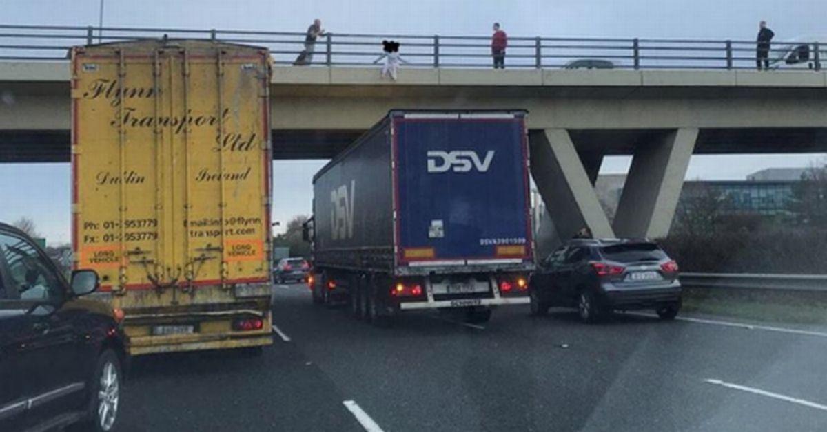 Kierowca ciężarówki powstrzymał samobójczynię