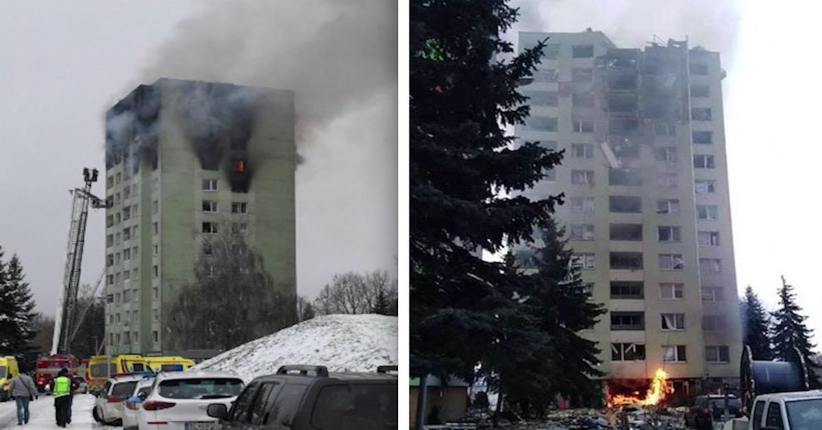 Wybuch gazu w bloku w Preszowie
