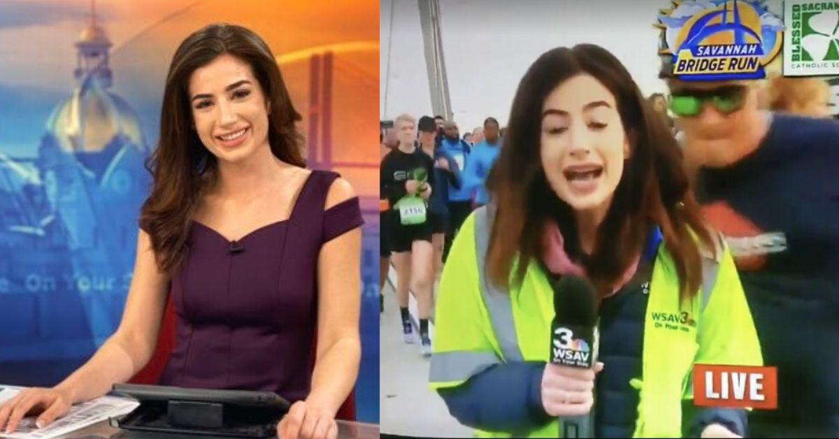 Klepną reporterkę w pupę
