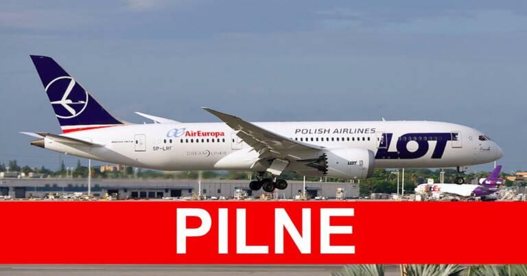 Awaryjne lądowanie samolotu z Warszawy