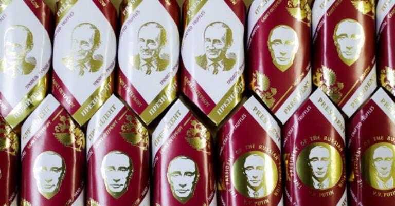 Cukierki z Putinem zawierające wódkę 1