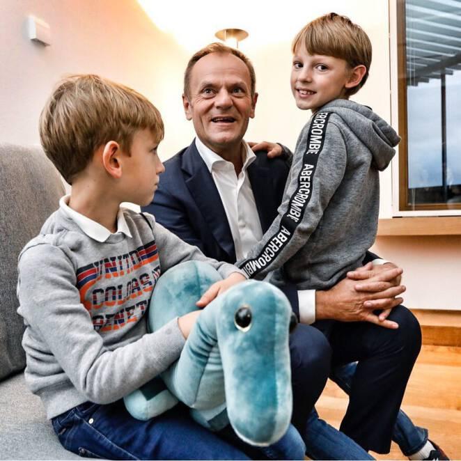 Donald Tusk bity przez ojca