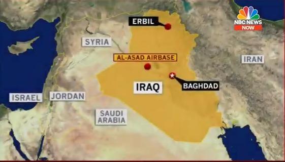 Pociski spadły na amerykańskie bazy w Iraku