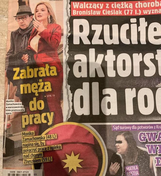 Wpadka Moniki Zamachowskiej