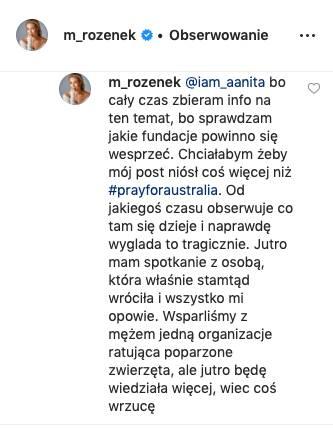 Odpowiedź Małgorzaty Rozenek