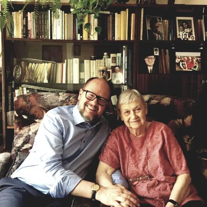 Paweł Adamowicz z mamą Teresą