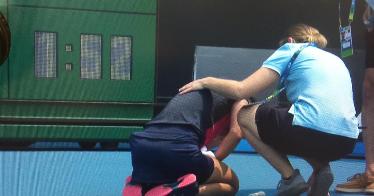 atak duszności w czasie meczu tenisa