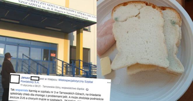 pacjentowi podano zapleśniały chleb