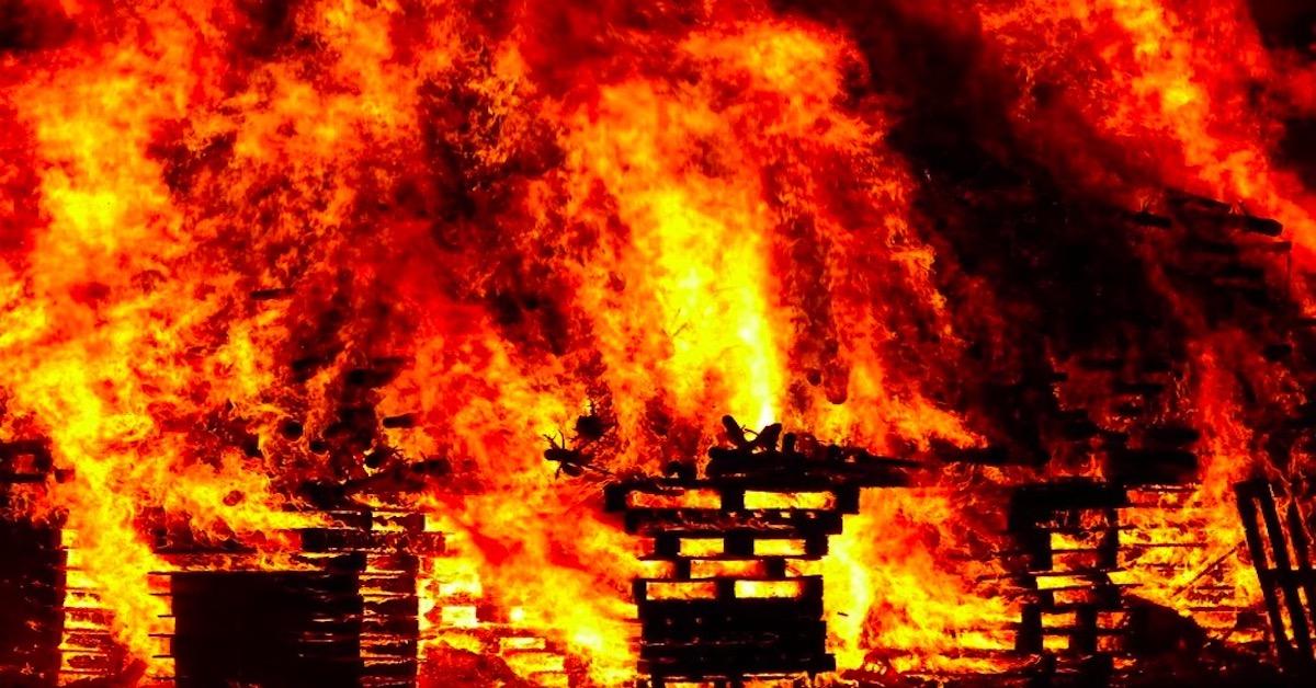 pożar w hospicjum