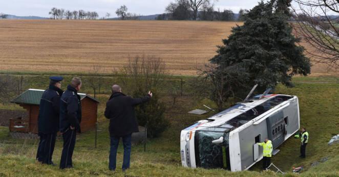 wypadek autobusu szkolnego w Niemczech