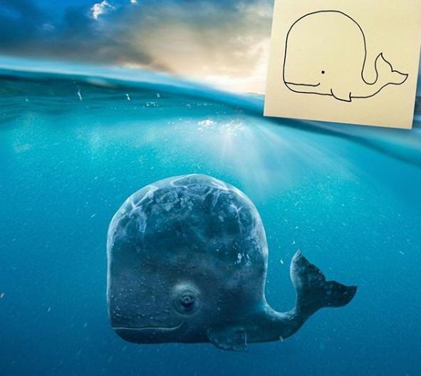 zabawne fotomontaże dziecięcych rysunków 11
