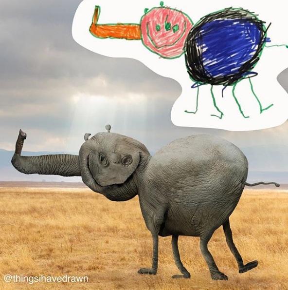 zabawne fotomontaże dziecięcych rysunków 15