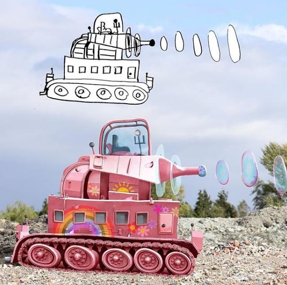 zabawne fotomontaże dziecięcych rysunków 4