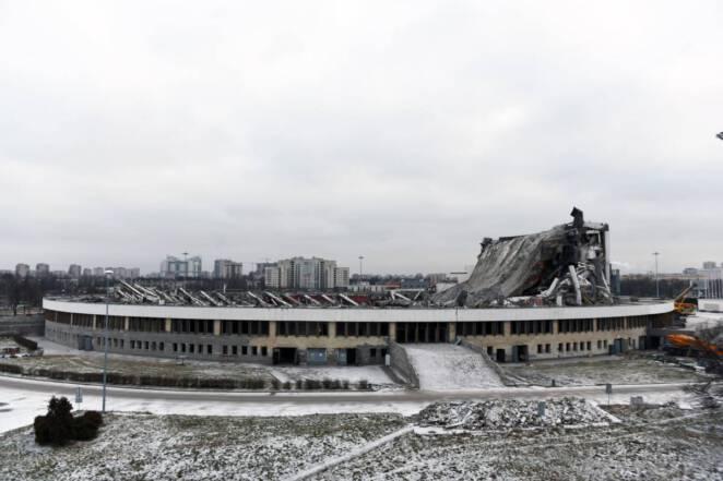 Śmierć w trakcie rozbiórki stadionu
