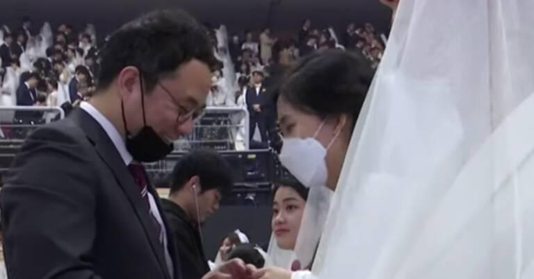 Mssowy ślub w Korei