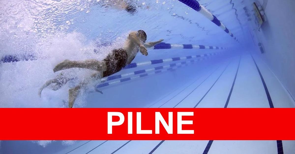 Mężczyzna zasłabł w basenie
