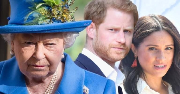Meghan Markle obraziła królową Elżbietę II