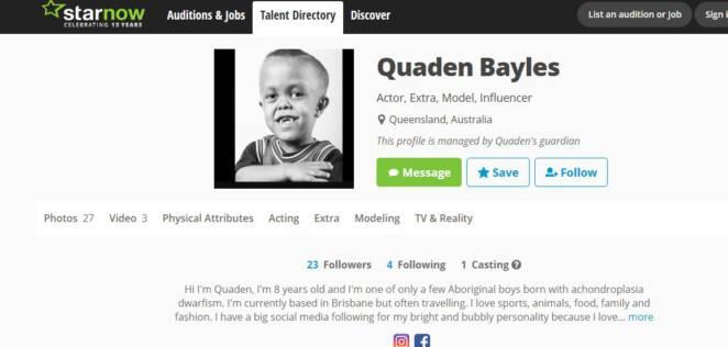 Quaden ma tak naprawdę 18 lat