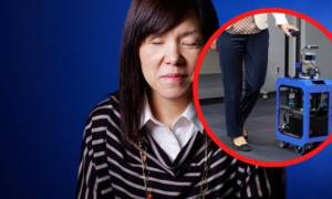 Robo-walizka pomaga osobom niewidomym