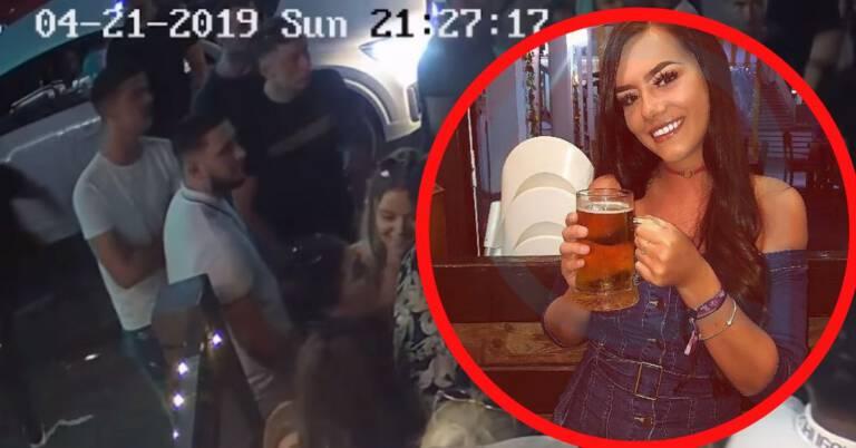 Rzucił butelkę w kobietę