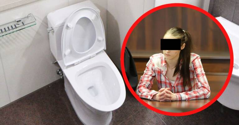 Utopiła dziecko w toalecie