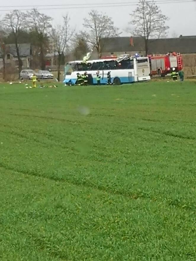 Wielkopolska wypadek szkolnego autobusu
