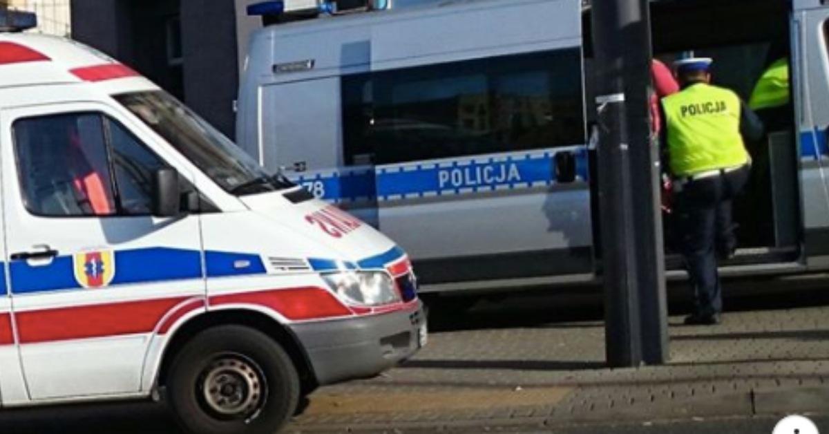 karetka i policja