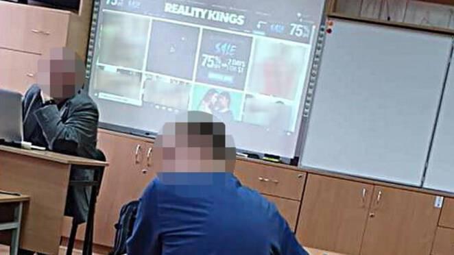 nauczyciel oglądał pornografię