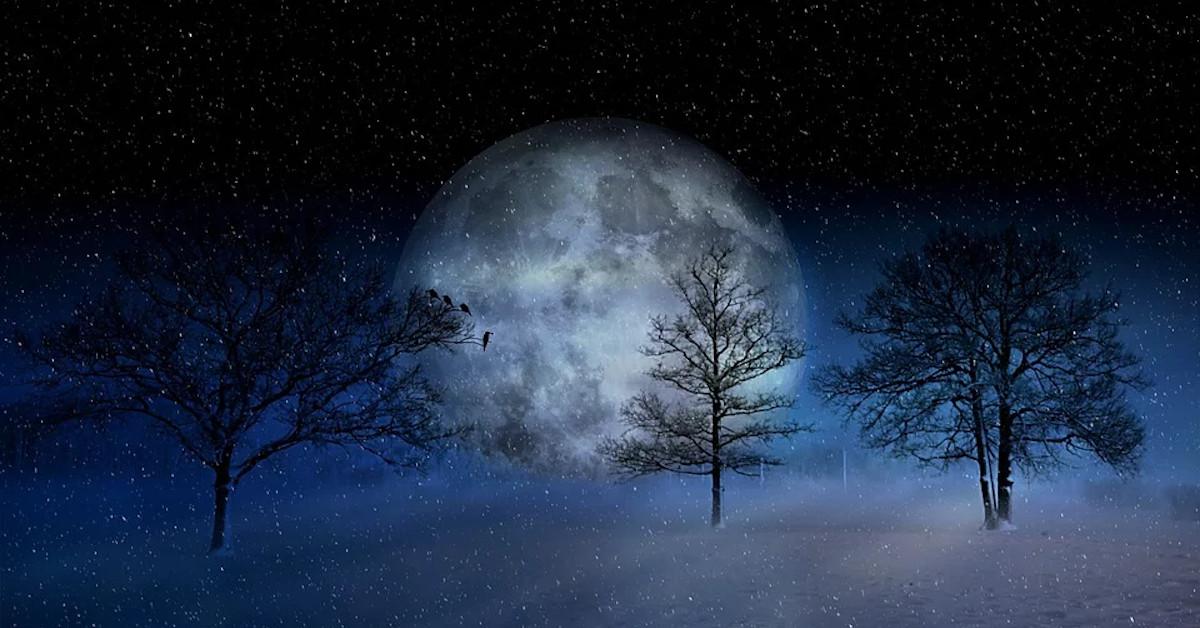 pełnia śnieżnego księżyca