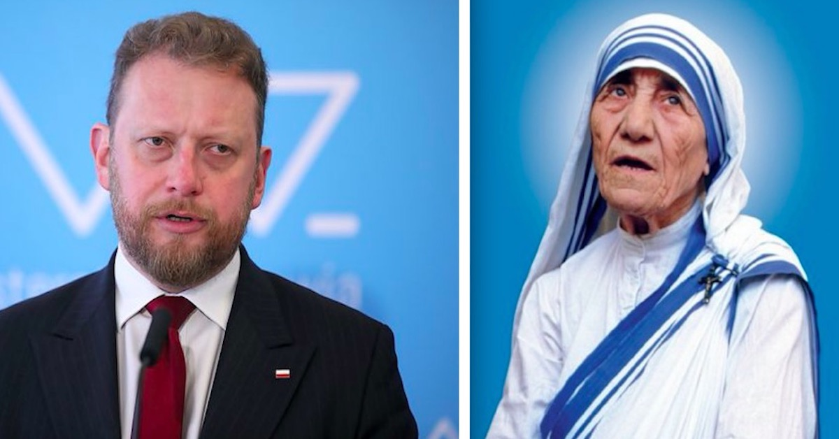 Łukasz Szumowski i matka Teresa