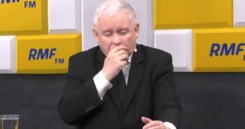 Kaczyński kaszlał w trakcie wywiadu