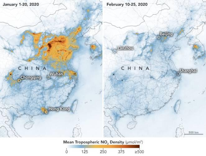 Kwarantanna oczyściła Chiny z zanieczyszczeń
