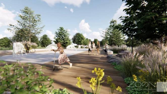 Park na Bielanach modernizacja