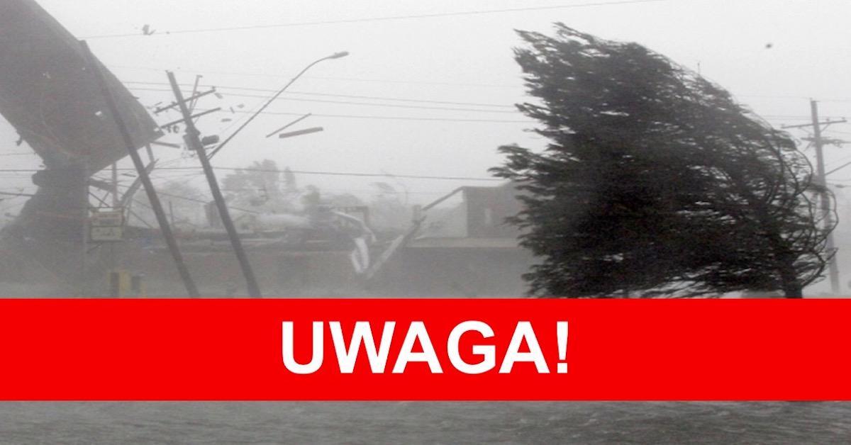 Silny wiatr w całym kraju