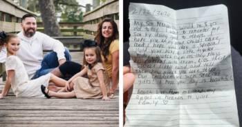 Wzruszający list w torcie urodzinowym