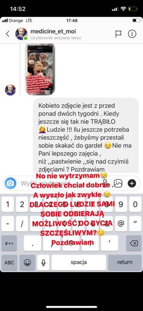 Dagmara Kaźmierska w masce