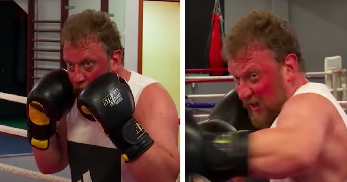 Łukasz Szumowski trenuje boks