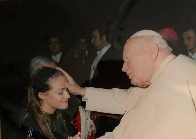 Alicja Bachleda-Curuś i Jan Paweł II